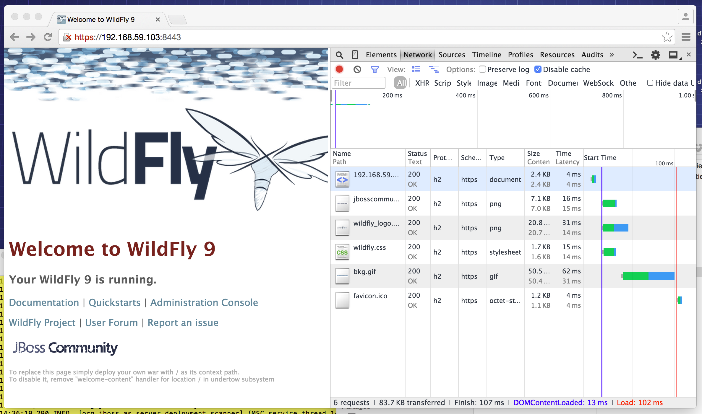 Wildfly 9 0 w/ Docker, Offline CLI and HTTP/2